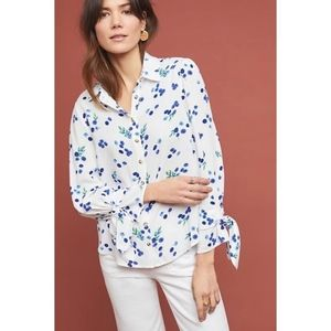 Maeve Blithe Blueberry Button Down
